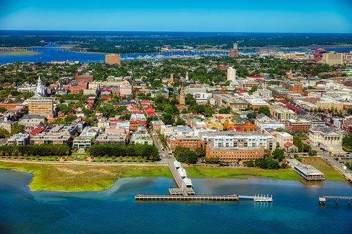 Charleston, South Carolina, America, City, Urban