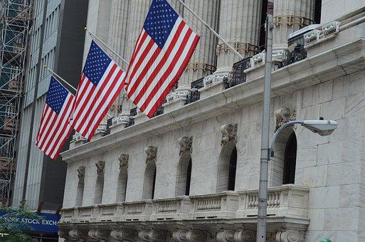 Nyse, Stock Exchange, American Flag