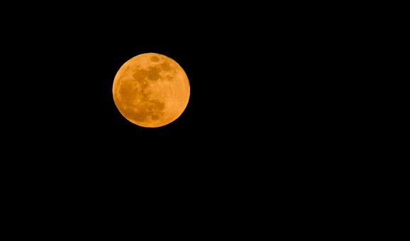 Super Moon, Moon, Night, Landscape, Lunar, Sky