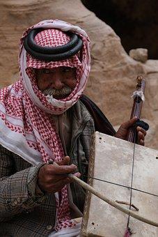 Bedouin, Rebab, Violin, Desert, Jordan, Traditional