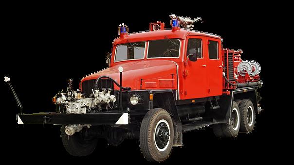 Fire, G5, Isolated, Werdau, Ddr, Oldtimer, Fire Truck