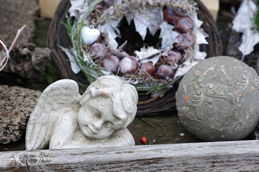 Angel, Sad, Sculpture, Mourning, Cemetery, Death, Wing
