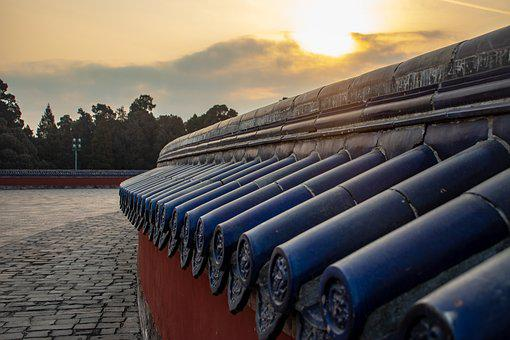 Temple Of Heaven, Beijing, Architecture, Wall, Close Up