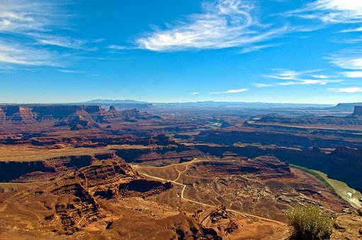 View From Dead Horse Point, Canyons, Point, Sky, Canyon
