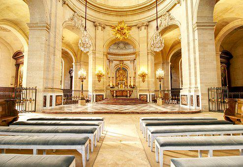 Cathedral, Bishop, Choir, Versailles, Church