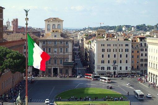 Rome, Italy, Piazza Venecia, Via Del Corso, City