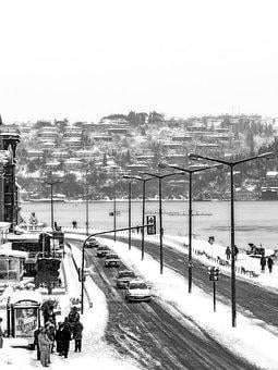 Snow, Winter, Arnavutkoy, Cold, Road, Frozen