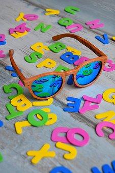 Color, Letters, Specs, Sunglasses, Material, Design