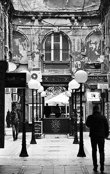 Belgrade, Downtown, Courtyard, Cityscape, European