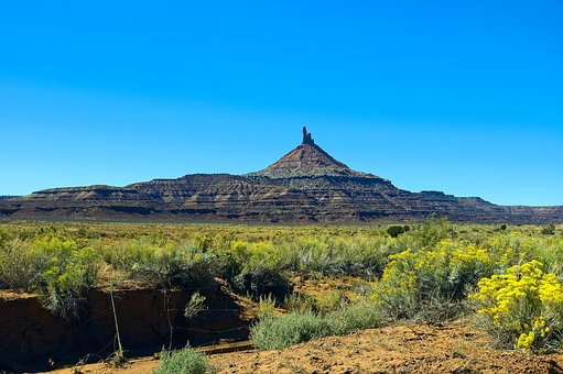 South Six-shooter Peak, Desert, Sandstone, Landscape