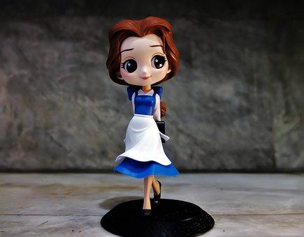 Lady, Female, Girl, Young, Toy, Figurine, Disney, Film