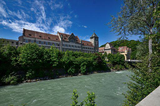 District Court, Feldkirch, River, Water, Flowing