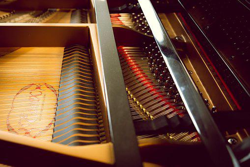 Piano, Strings, Music, Instrument, Inside