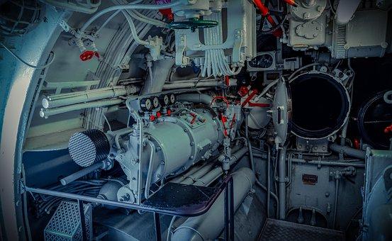 U Boat, Interior, Devices, Lines, Torpedo Tube