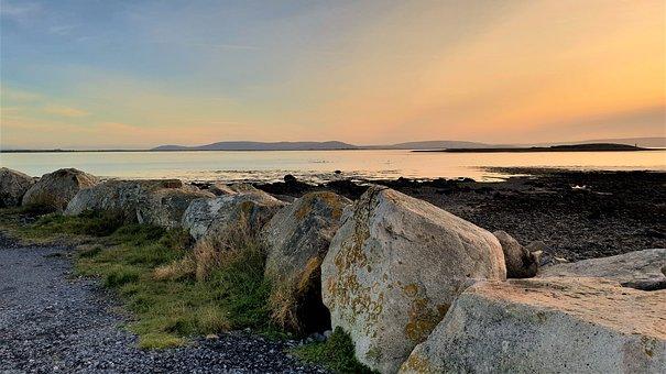 Ireland, Galway, Bay, Nature, Landscape, Clouds, Irish