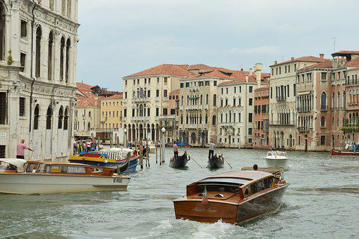 Venice, Landscape, View, Boats, Italy, Panorama, City