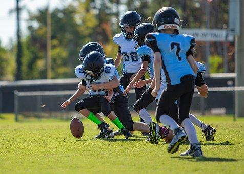 Football, Boys, Sports, Kids, Fumble