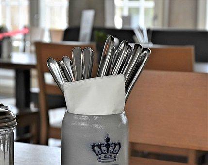 Cutlery, Restaurant, Table, Fork, Knife, Eat