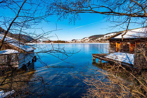 Schliersee, Lake, Winter, Nature, Water, Bavaria, Mood