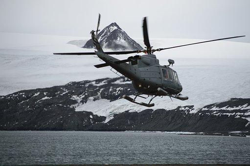 Helicopter, Transport, Travel, Antarctica, Landscape