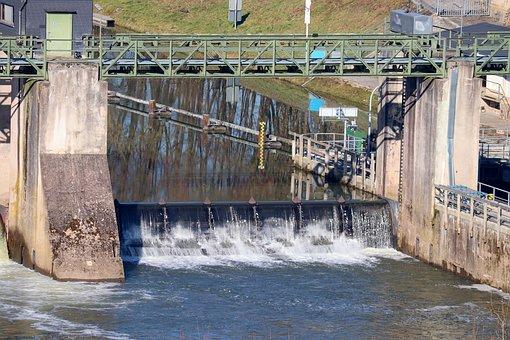 Lock, Weir, Dam, Ship Lock, Water, Barrage, River