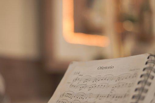 Offertory, Music, Sheet Music, Organ, Melody, Church