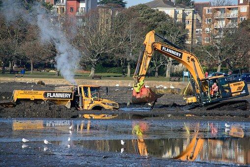 Excavator, Plant, Digging, Machine, Quarry, Huge