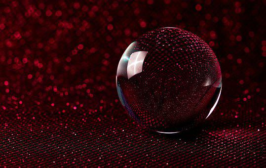 Crystal Ball-photography, Bokeh, Red, Glitter, Ball