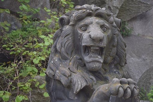 Lion, Figure, Stone Figure, Statue, Art, Rock Carving