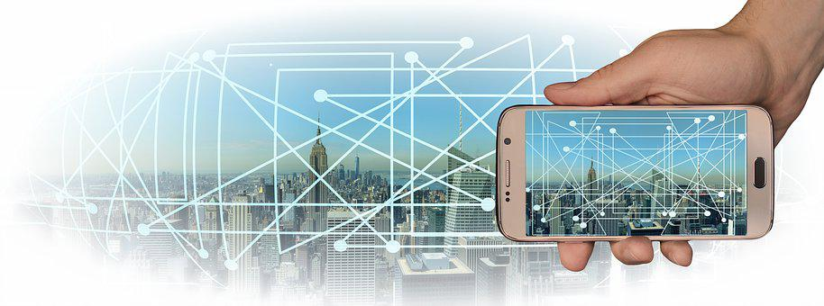 City, Panorama, Smartphone, Control, Board, Industry
