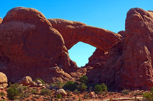 South Window Arch, Arches National Park, Stone