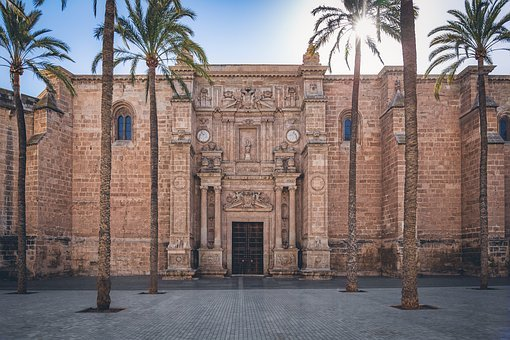 Almeria, Cathedral, Medieval, Architecture, Spain, Door
