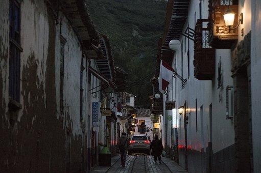 Cusco, Old, Historical, Sunset, Streets, Cuzco, Peru
