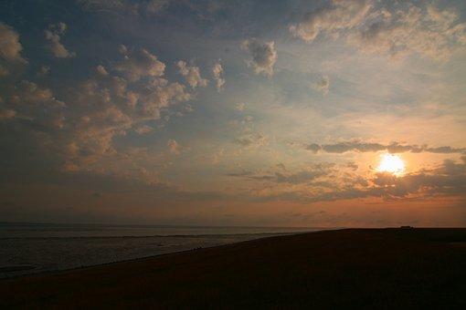 Sun, Sea, Sunset, Beach, Water, Sky, Summer, Dusk