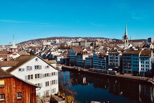 Zurich, Switzerland, Swiss, River, Landscape, Limit