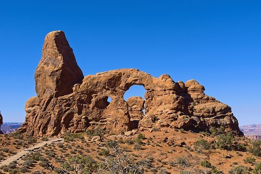 The Turret Arch, Arches, Sandstone