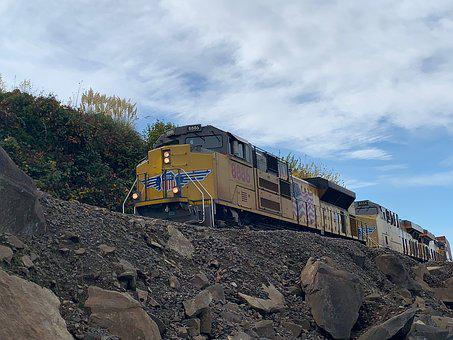 Train, Freight, Freight Train, Engine, Locomotive