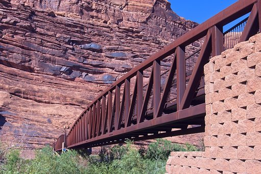 Riverway Bridge Over Colorado, River, Bridge, Utah