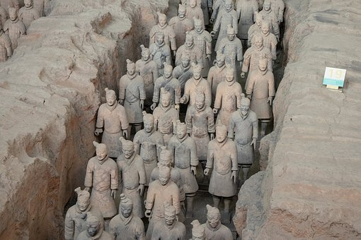 China, Xi'an, Terracotta, Warriors, Statue, Soldier