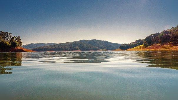 Dam, Agua, Lake, Sky, Summer, Water, Landscape