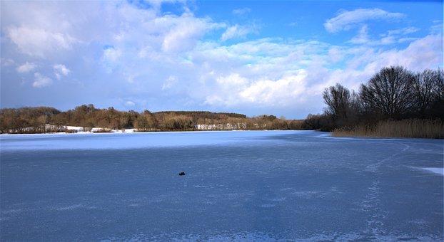 Wiesensee, Frozen, Ice Cold, Winter, Lake, Winter Magic