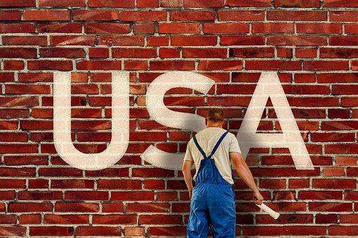 Usa, Wall, America, Border, Policy, Painter