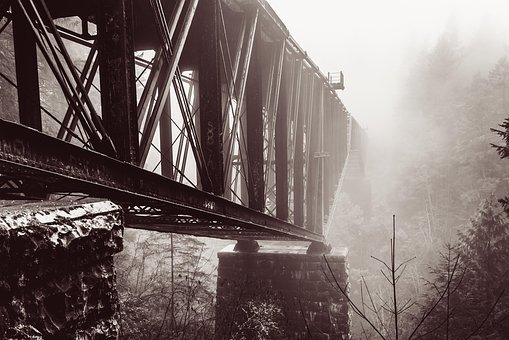 Metal, Bridge, Architecture, Steel, Construction, Old