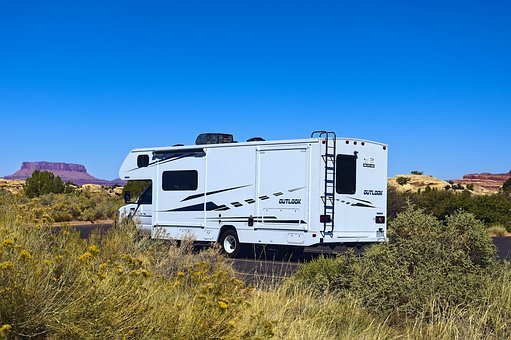 Caravan At Needles, Camper, Caravan, Motorhome, Travel