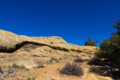 Slick Rock, Sandstone, Trail, Canyonlands National Park