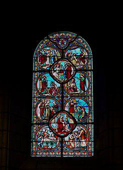 Stained Glass, Stained Glass Windows, Church