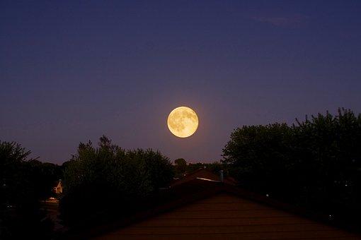 Moon, Night, Dark, Moonlight, Sky, Landscape