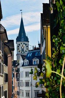 Church, Zurich, Switzerland, City, Architecture, Europe