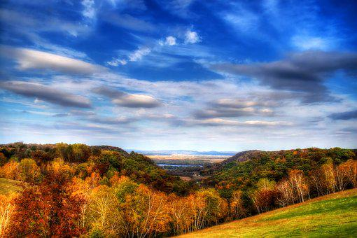 Sky, Clouds, Landscape, Nature, Field, Calm, Summer