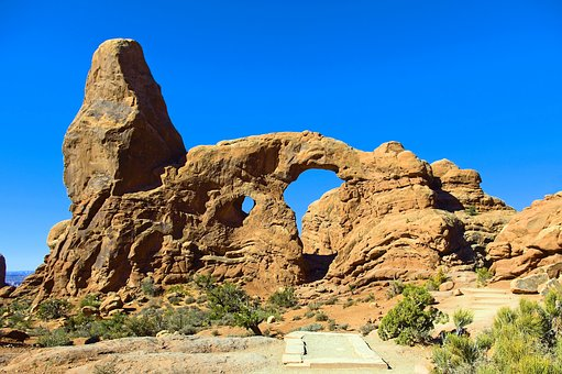 Formation Of Turret Arch, Arches National Park
